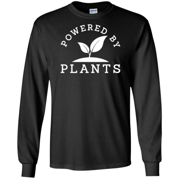 powered by plants tank top long sleeve - black