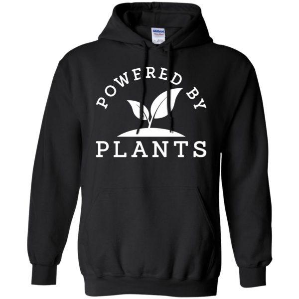 powered by plants tank top hoodie - black