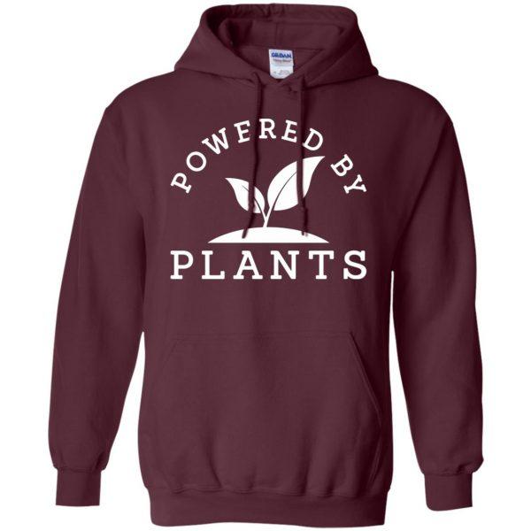 powered by plants tank top hoodie - maroon