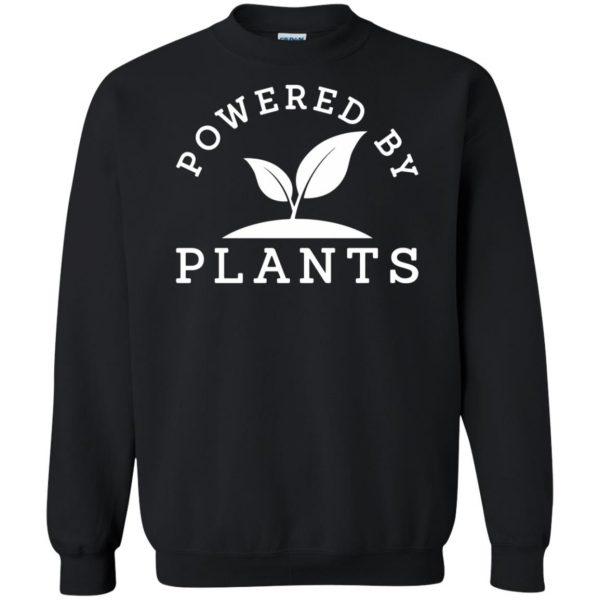 powered by plants tank top sweatshirt - black