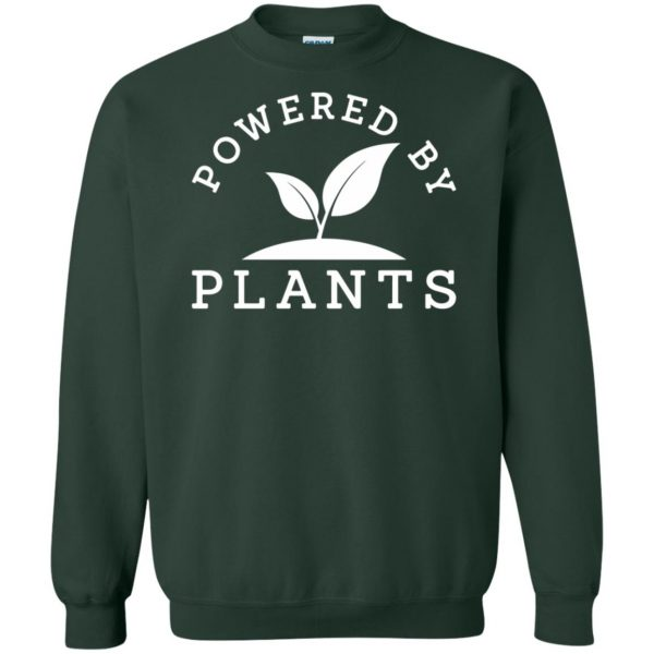 powered by plants tank top sweatshirt - forest green