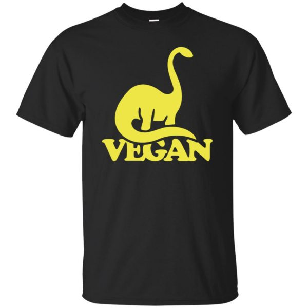Vegan Dinosaur T-shirt - black