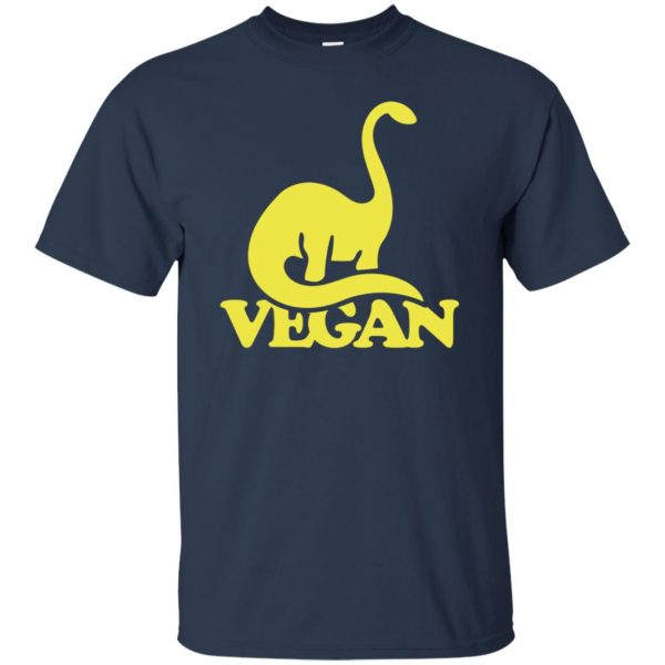 Vegan Dinosaur t shirt - navy blue