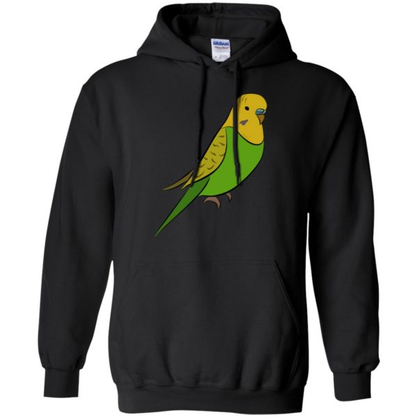 parakeet hoodie - black