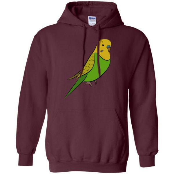parakeet hoodie - maroon