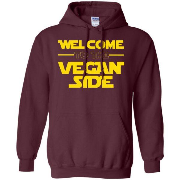Welcome To The Vegan Side hoodie - maroon
