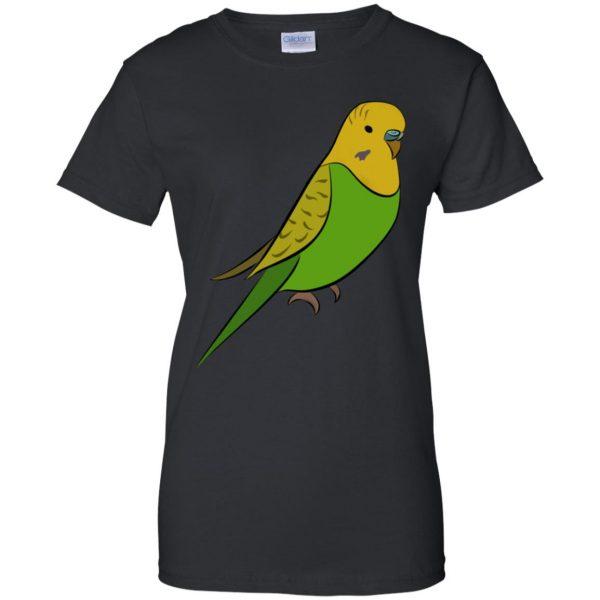 parakeet womens t shirt - lady t shirt - black