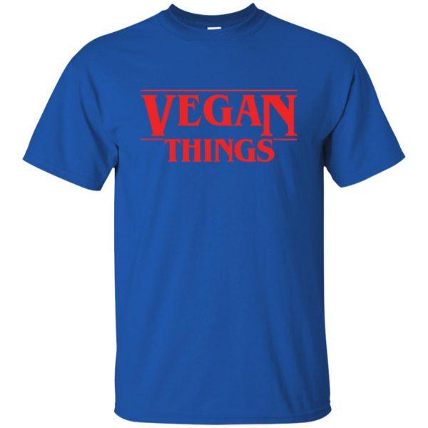 Vegan Things t shirt - royal blue