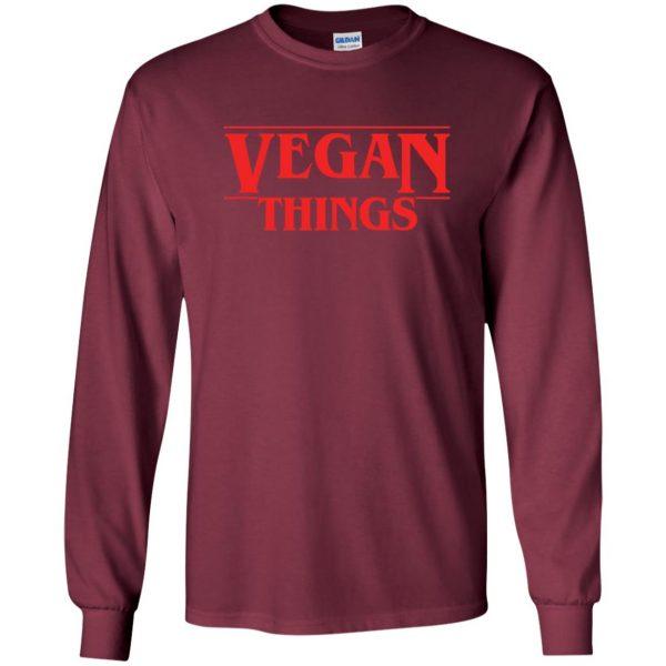Vegan Things long sleeve - maroon