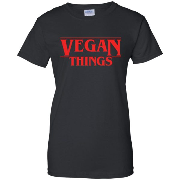 Vegan Things womens t shirt - lady t shirt - black