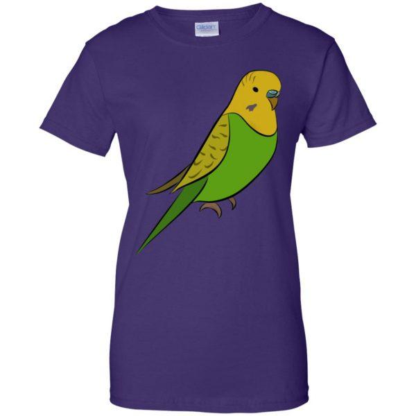parakeet womens t shirt - lady t shirt - purple