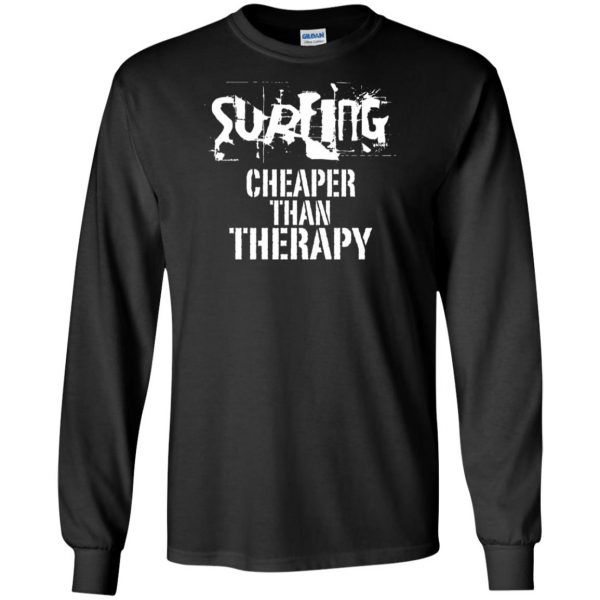Surfing, Cheaper Than Therapy long sleeve - black