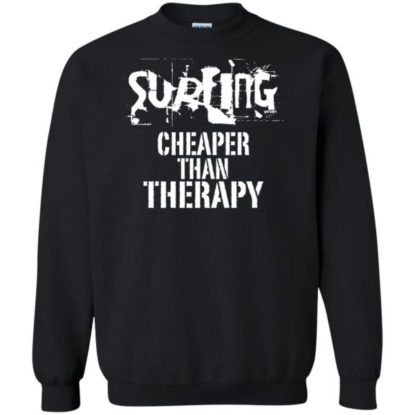Surfing, Cheaper Than Therapy sweatshirt - black
