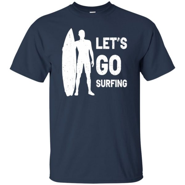Let's go Surfing t shirt - navy blue