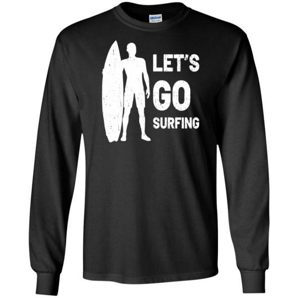 Let's go Surfing long sleeve - black