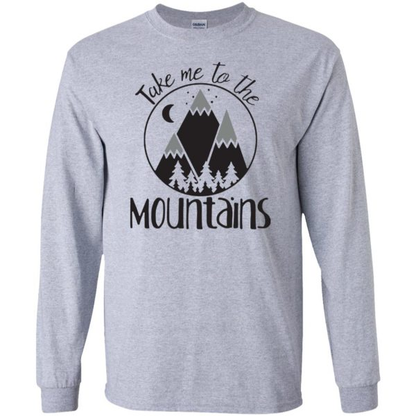 take me to the mountains long sleeve - sport grey