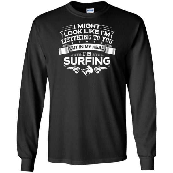 In My Head I'm Surfing long sleeve - black