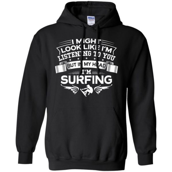 In My Head I'm Surfing hoodie - black
