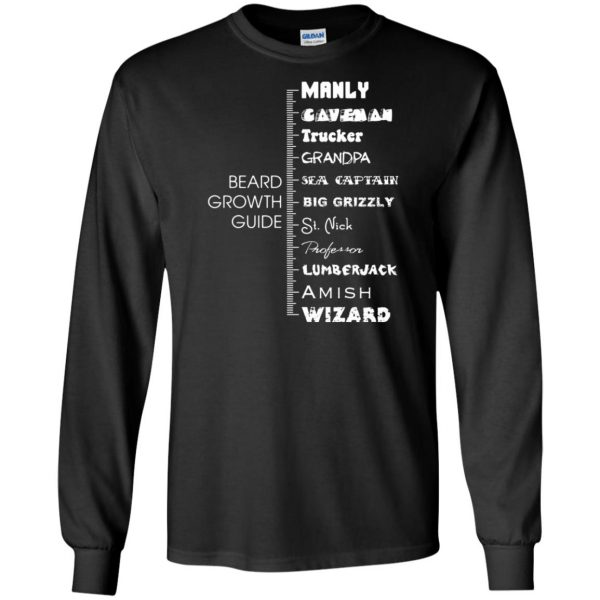 beard growth long sleeve - black