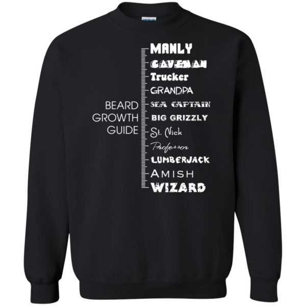 beard growth sweatshirt - black