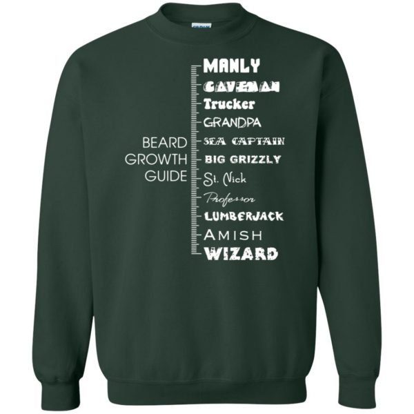 beard growth sweatshirt - forest green
