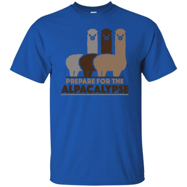 alpacalypse t shirt - royal blue