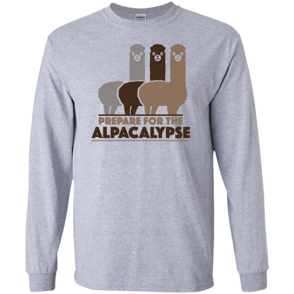 alpacalypse long sleeve - sport grey