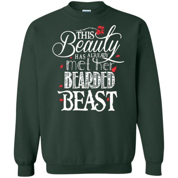 This Beauty Has Already Met Her Bearded Beast sweatshirt - forest green