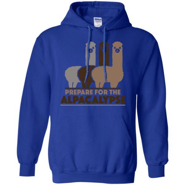 alpacalypse hoodie - royal blue