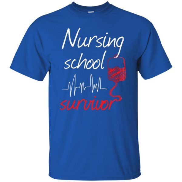 nursing school graduation t shirt - royal blue