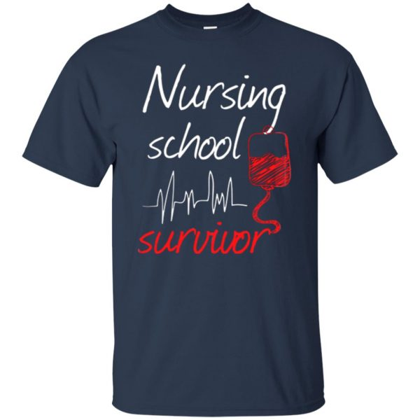 nursing school graduation t shirt - navy blue