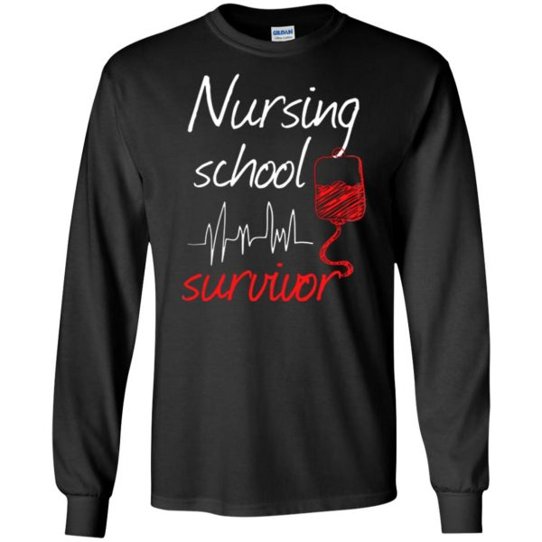 nursing school graduation long sleeve - black