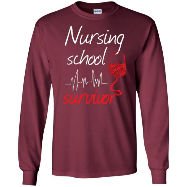 nursing school graduation long sleeve - maroon