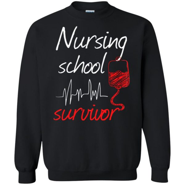 nursing school graduation sweatshirt - black