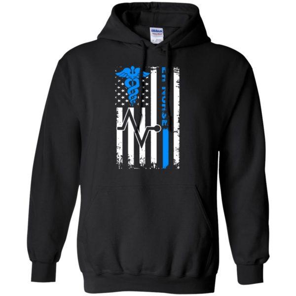 nurse flag hoodie - black