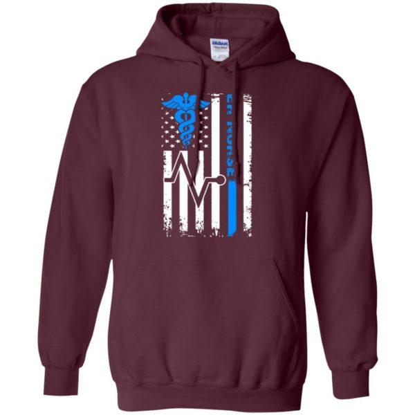 nurse flag hoodie - maroon