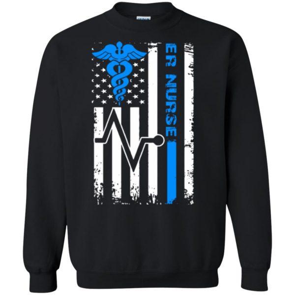nurse flag sweatshirt - black