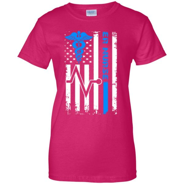 nurse flag womens t shirt - lady t shirt - pink heliconia
