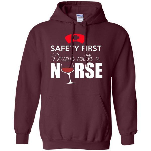 drink with a nurse hoodie - maroon