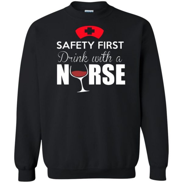 drink with a nurse sweatshirt - black