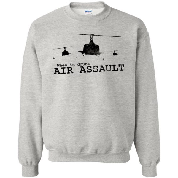 air assault sweatshirt - ash