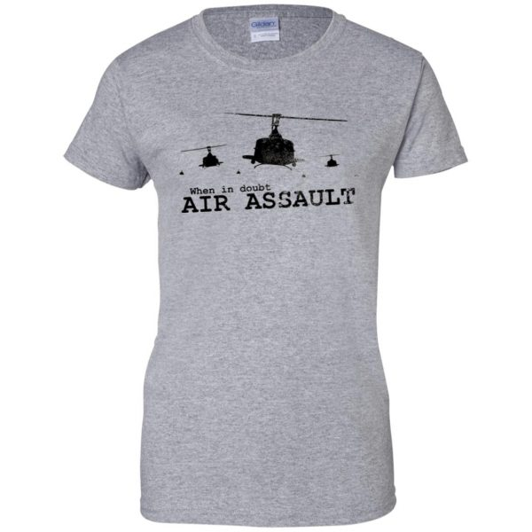 air assault womens t shirt - lady t shirt - sport grey