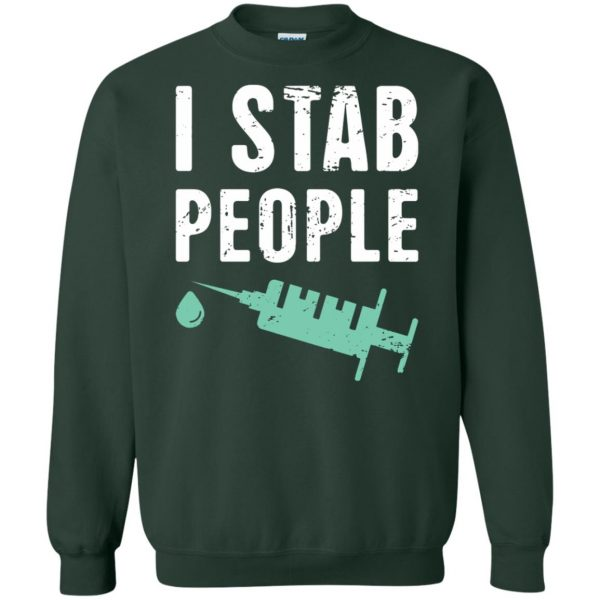 I Stab People sweatshirt - forest green