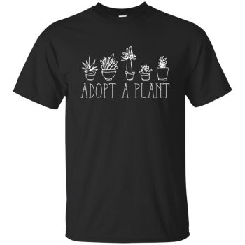Adopt A Plant T-shirt - black