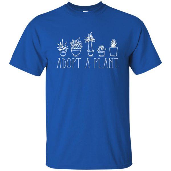 Adopt A Plant t shirt - royal blue