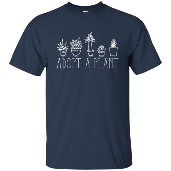Adopt A Plant t shirt - navy blue