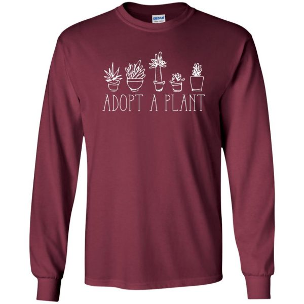 Adopt A Plant long sleeve - maroon