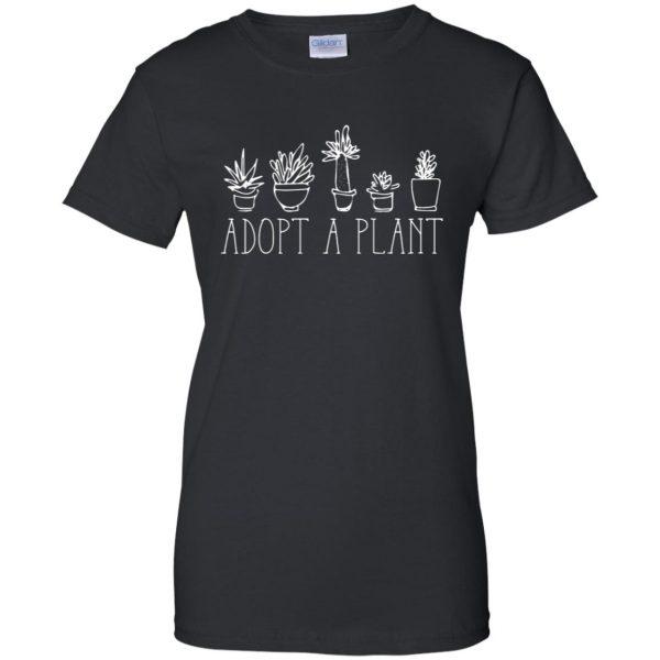 Adopt A Plant womens t shirt - lady t shirt - black