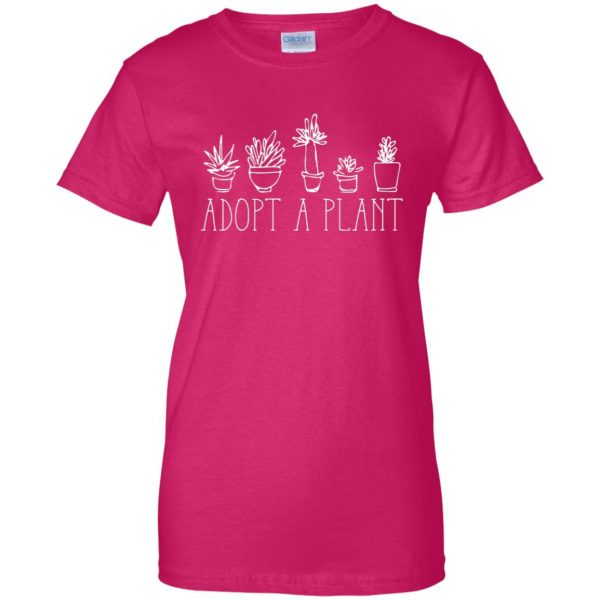 Adopt A Plant womens t shirt - lady t shirt - pink heliconia