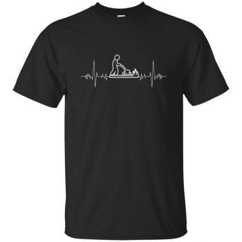 I Love Gardening Heartbeat T-shirt - black